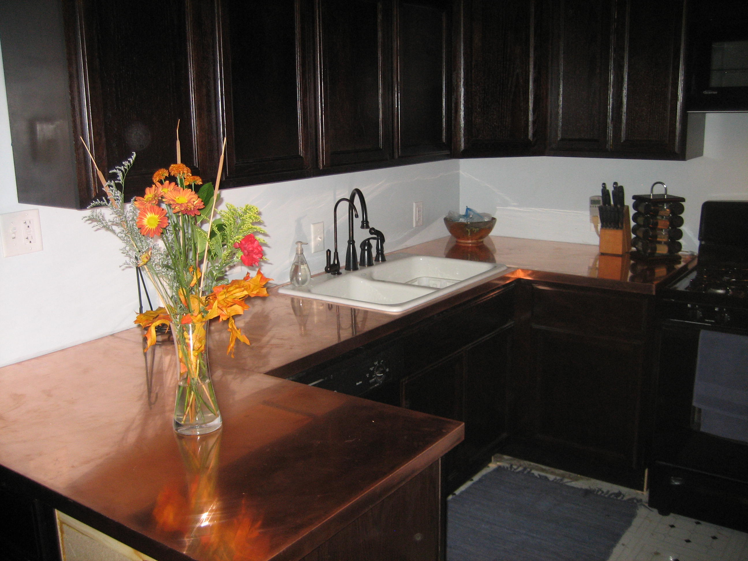 How to Make Copper Countertops : Get Up! and DIY