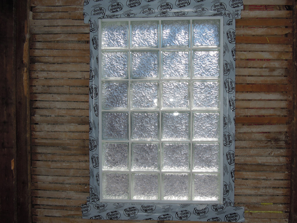 Glass Block Window In An Exterior Wall Get Up And Diy